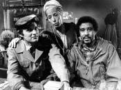 Publicity photo of Alan Alda, Lilly Tomlin and Richard Pryor from Tomlin's 1973 CBS Television special, Lilly.