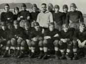 English: Indiana High School football team, circa 1921