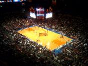 View of Knicks game at Madison Square Garden