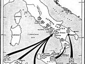 The Allied invasion of Italy, September 1943, landings at Salerno
