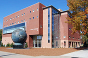 Image of the Kennesaw State University Social Science Building and Spaceship Earth