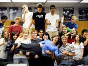 A celebratory AP Chemistry class