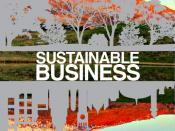 English: Cover for Sustainable Business Wikibook.
