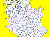Location of the municipality of Titel within Serbia