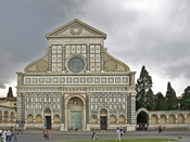 Facade of the church Santa Maria Novella in FLorence, Italy.