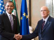 US President Barack Obama and Italian President Giorgio Napolitano in Rome