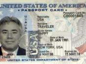 English: Specimen of the U.S. passport card, issued by the State Department.