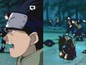 Blood is edited and painted out of an episode of Naruto - the man's altered face was not a domestic edit but rather a change made for the Japanese DVD release.