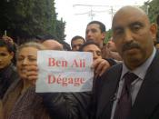 Original caption: Unrest culminates all over Tunis with one clear message from protesters of all ages: President Ben Ali must leave, 14 Jan 2011. (VOA Photo/L. Bryant)