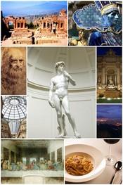 Italiano: Collage di varie foto riguardanti la cultura dell'Italia.