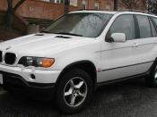 2000-2003 BMW X5 photographed in College Park, Maryland, USA. Category:BMW E53 Category:White SUVs