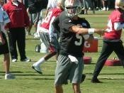 San Francisco 49ers quarterback David Carr at training camp in Santa Clara, California.