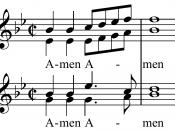 Notation des Dresdner Amen