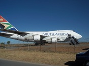 Boeing 747SP donated to the South African Airways Museum Society at Rand Airport, Germiston, South Africa. The aircraft is in the livery of South African Airways at the time of its retirement.