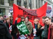 Communist Students members on Free Education demonstration, February 2009