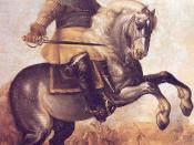 Gustavus Adolphus at the Battle of Breitenfield. Adolphus was perhaps the greatest military innovator of this era
