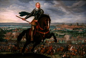 Gustavus Adolphus of Sweden at the Battle of Breitenfeld