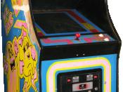 English: Ms. Pacman cabinet Polski: Automat do gry Ms. Pacman