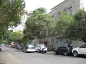 English: The Luis Spota Saavedra Art Education Center located on Londres Street in Colonia Juarez in Mexico City.