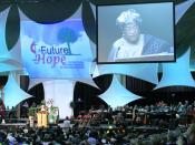 Ellen Johnson Sirleaf, the 23rd president of Liberia, speaks to the 2008 General Conference of the United Methodist Church.