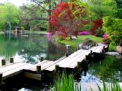 Japanese Garden in Maymont Park, Richmond, Virginia, United States.