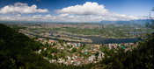 English: View of Dal Lake and the city of Srinagar from Shankaracharya Hill