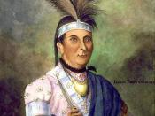 Watercolor portrait of Joseph Brant (Thayendanegea)
