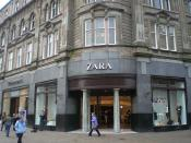 English: A Zara store in Dundee, Scotland, United Kingdom.