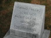 Gravestone of H. P. Lovecraft