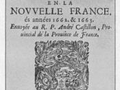 Cover of the Jesuit Relations for 1662-1663