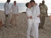 Major Alan G. Rogers at Same-Sex Wedding Ceremony on June 28, 2006.