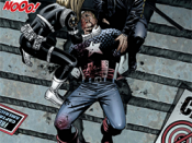 Steve Rogers' presumed death. Art by Steve Epting.