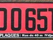2007 issue temporary license plate from Tchad in Africa. Western maps usually show Tchad as Chad. Tchad is the correct spelling of the country's name.