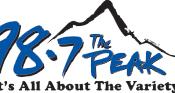 English: PEAK logo blue