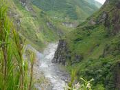 Pastazas river near Baños, Ecuador