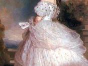 Empress Elisabeth in Courtly Gala Dress with Diamond Stars