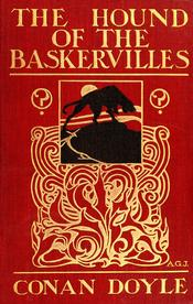 English: An page scan of cover of The Hound of the Baskervilles by Arthur Conan Doyle