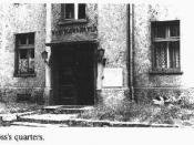 The quarters of the Auschwitz's Commandant Rudolf Hoess in the death camp.