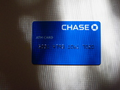 English: Chase ATM card