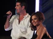 English: Simon Cowell and Cheryl Cole during filming of the London auditions for the seventh series of The X Factor.