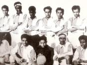 English: The 1959 National Soccer Team which M.H. Kamaluddin was a member of (second from the left of the lower row)