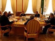 English: THE KREMLIN, MOSCOW. The Collective Security Treaty Organisation summit. Русский: МОСКВА, КРЕМЛЬ. Заседание Совета коллективной безопасности ОДКБ.