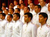 Texas A&M University Singing Cadets at a performance