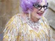 Dame Edna at the Royal Wedding