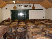 Single Malt Scotch in bond at the Laphroaig distillery on Islay in Scotland.