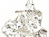 Nitta Yoshisada in a painting by Kikuchi Yōsai.