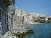 English: Ermoupoli, Syros island, Greece. Español: Ermoupoli , capital de la isla griega de Siros.