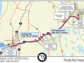 Florida Rail Enterprise map of the Orlando Tampa route