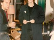 English: James Grant Tillman and Larry Reid at Jims surprise birthday party in the Madrona house 1993.jpg