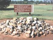 English: Photo of a marker at Bosque Redondo, Fort Sumner, in New Mexico